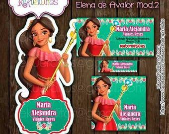 Elena de aworth Kit editable printable School labels