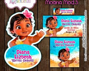 Moana Baby Kit Editable printable School labels