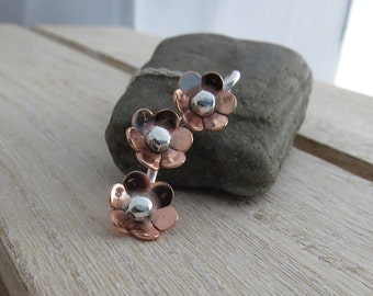 Flower necklace Copper flowers Copper jewellery Copper flower necklace Copper necklace Copper flower pendant Copper jewelry Flower jewelry