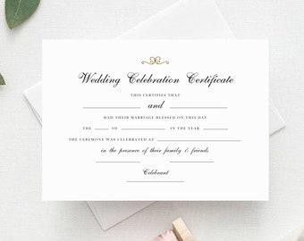 instant download wedding celebration certificate celebrant certificate marriage certificate wedding certificate pdf