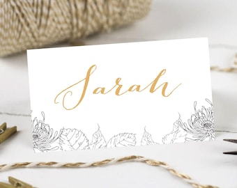 Personalised Printable, Wedding Place Cards,Name Cards - Isla Collection