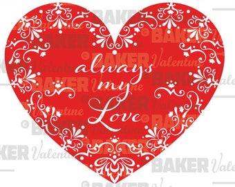 Always my Love SVG