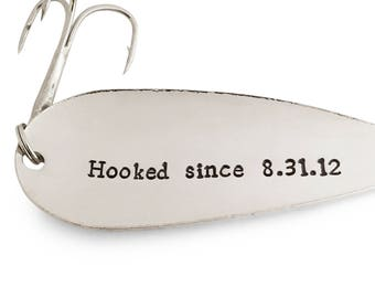 6th Anniversary Gift, For Him, For Her, Fishing Gifts, 6 Year Anniversary, Hooked Since 2012, Fishing Lure