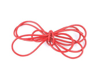 1 m cord leather red 2mm (02)