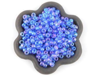 20grs shiny blue seed beads 3mm (14)