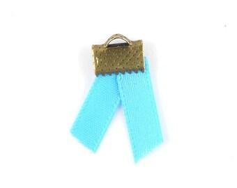 x2m (43A) 5mm turquoise satin ribbon