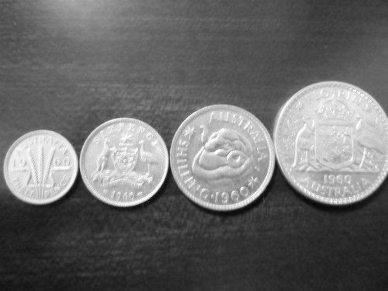 1958 One Florin Australian Silver Pre Decimal Coin Queen Elizabeth II