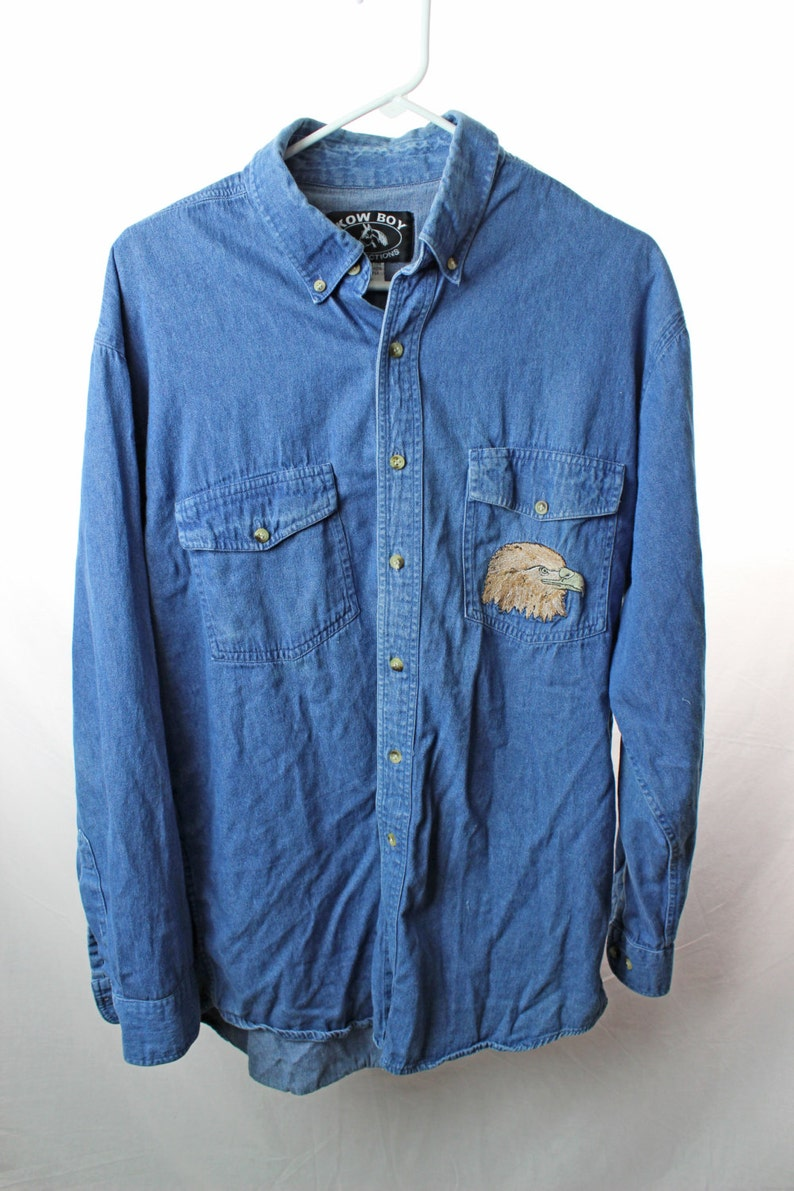 9189bd8b Mens Western Jean Shirt - DREAMWORKS