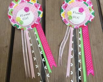 Flower Girl Rosette, Flower Girl Gift, Flower Girl