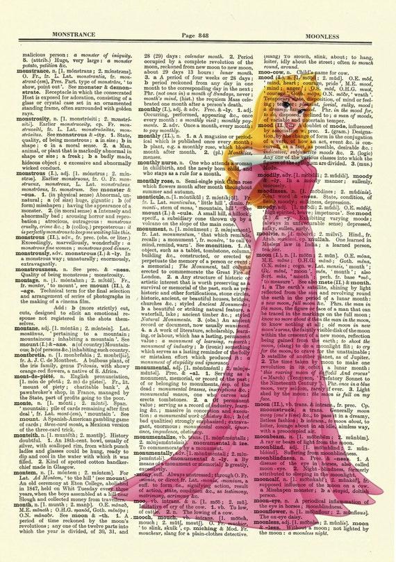 Disney's Sleeping Beauty (Aurora) Upcycled Dictionary Art Print Poster