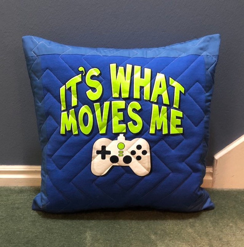 Fabulous Video Game Decor Pillow Cover Quilted With A Gamer Maze Stitch And Made Out Of A T Shirt Uwap Interior Chair Design Uwaporg