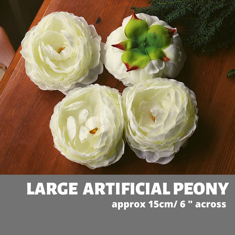 Very Large Peony 6 Artificial Flower Artificial Silk image 0