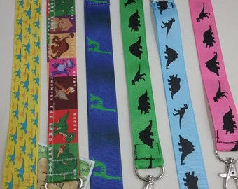 Dinosaur T Rex Paleontology ID Lanyard with Lobster Claw Clasp