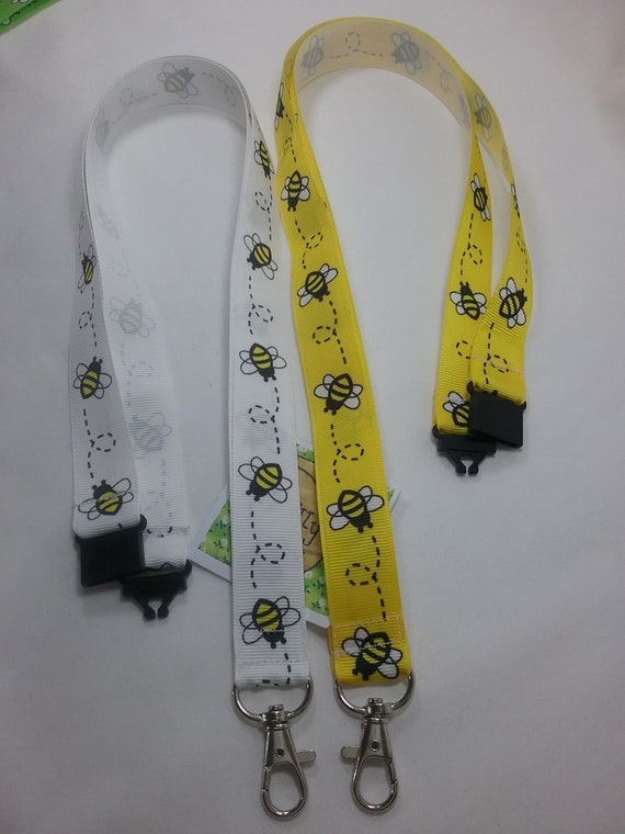 Bumble bee lanyard yellow 2 sizes keys whistle ID badge kids animal manchester