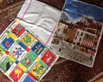 French vintage kitchen towels
