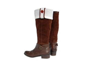 Ivory Sweater Knit Brimmins® for Tall Boots and Rain Boots