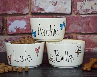 Extra Small dog bowl, personalised dog bowl, dog bowl ceramic, chihuahua Pomeranian bowl, dog food dish, dog food bowl, dog bowl,