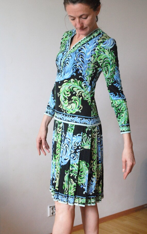 EMILIO PUCCI Silk Jersey Dress from the 70s, Vinta