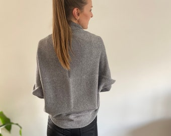Cashmere cardigan, Knitted cardigan, Knitted cashmere, weding bolero, Open front cardigan, Loose fit jacket, Lightweight cardigan,