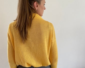 Lightweight sweater, cashmere pullover, oversized cashmere sweater, womans pullover, womans sweater, turtle neck pullover, thin sweater