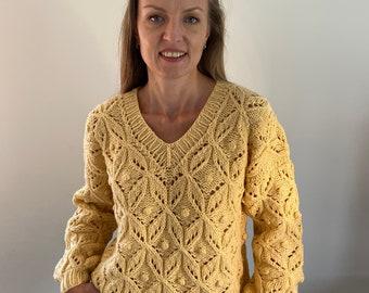Hand knitted sweater, Merino-cashmere sweater, chunky sweater, cashmere pullover, knitted jumper, handknitted jumper, oversized sweater