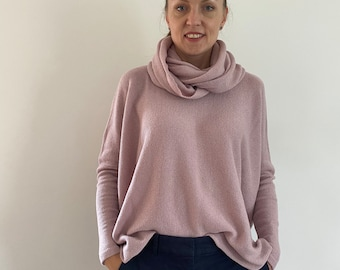 Cashmere pullover, extra large sweater, merino pullover, cashmere sweater, women's sweater, lightweight sweater, poncho, oversized cashmere