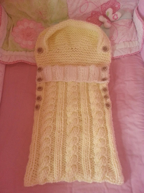 Baby Sleeping Bag knitting pattern, snuggly baby sleeping bag/sack ...