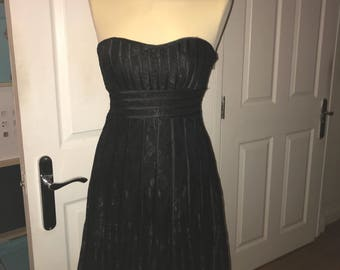 Ladies black strapless dtess size 10