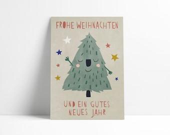 Postcard »Smiling Christmastree«