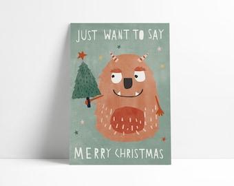 Postcard »Monster Christmas«