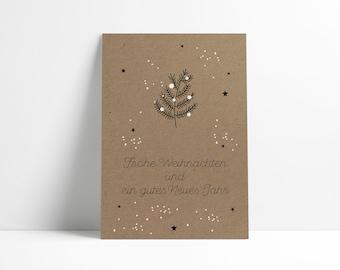 Postcard Christmas »Tannenzweig«