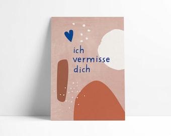 """Postcard """"I miss you"""""""