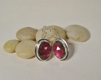 Primarily Pink Tourmaline Earrings
