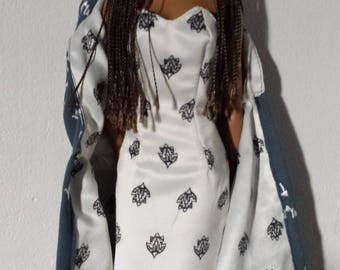 """Dress & Ankle Length Cape for Evangeline Ghastly and 16"""" Tonner Dolls Like Tyler Wentworth"""