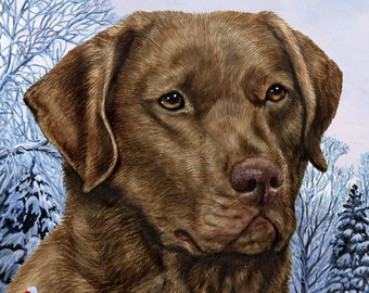 Dog Breed Winter Berries Garden Flags.