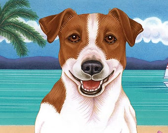 Jack Russell Beach Towel