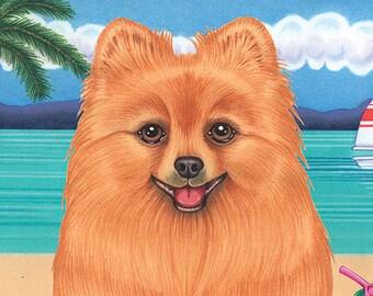Pomeranian Beach Towel