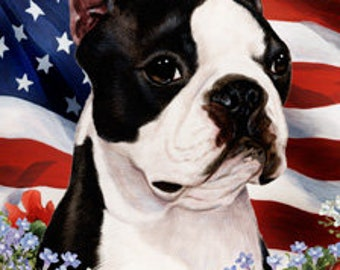 Boston Terrier House Flags