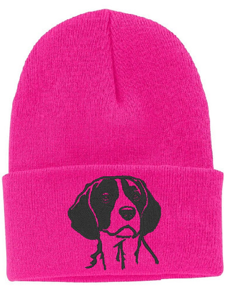 Beagle Embroidered Knit Hat