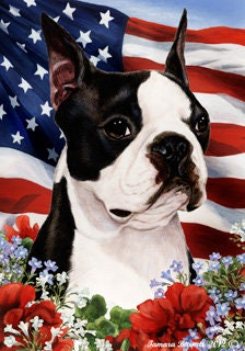 Boston Terrier Garden Flags Etsy