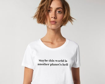 Custom quote shirt. Create personalized gift for your best friend. 100% cotton white woman's t-shirt