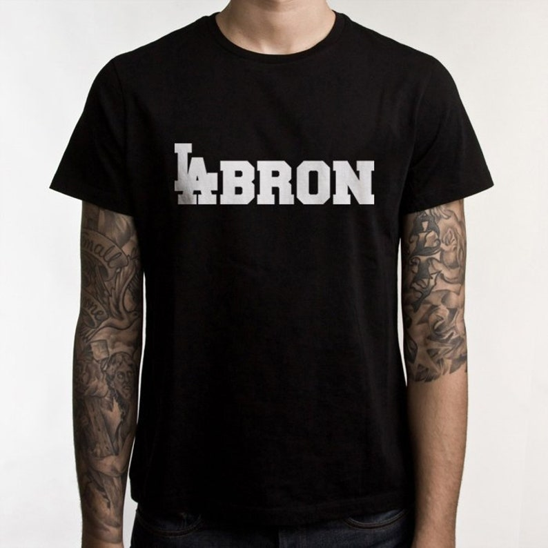 cheaper 3dade 70843 LeBron James LA Lakers t shirt LAbron black tshirt