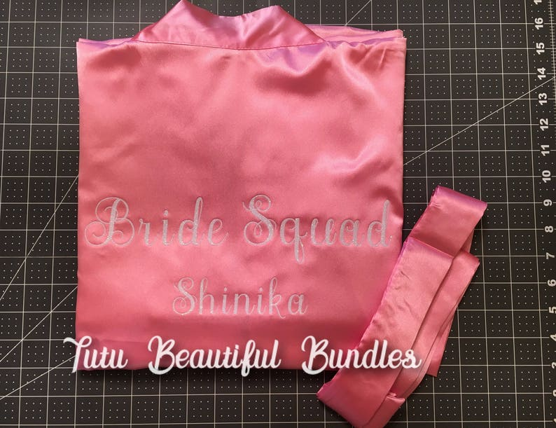 Bridal PartyBridesmaidMaid-of-HonorBride Personalized Robes