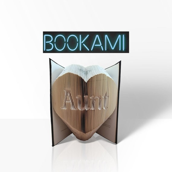 Trending Now Aunt Book Folding Pattern Heart Bookami Etsy
