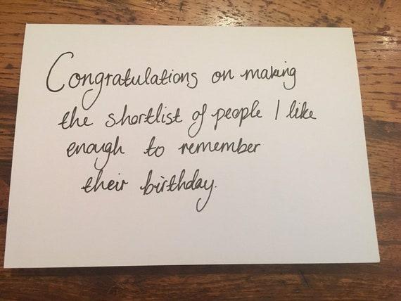 Carte D Anniversaire Felicitations Amitie Garce Humour Drole
