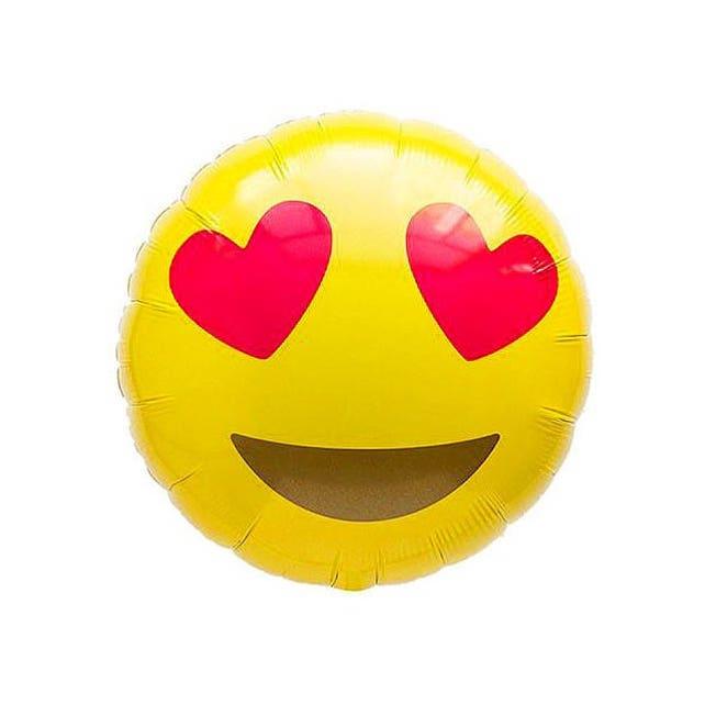 Love Emoji BalloonBirthday Decor Birthday Balloon Party Wink 1st