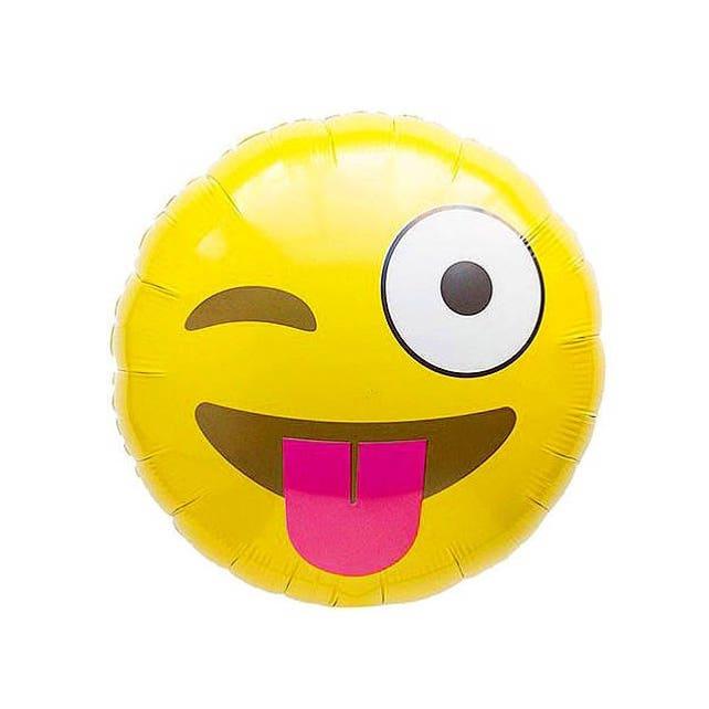 Tongue Emoji BalloonBirthday Decor Birthday Balloon Party Wink 1st