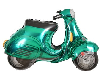 """36"""" Jumbo Scooter Balloon, Vespa Scooter, Party Supplies, Birthday Party Decorations, Party Decor, Paper Supplies, Summer Party, Birthday"""