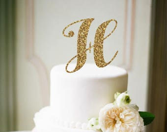 Initial Cake Topper, Personalized Cake Topper, Wedding cake topper