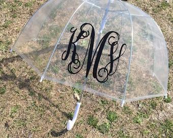 monogram umbrella, bridesmaid gift, personalized gift, dome umbrella